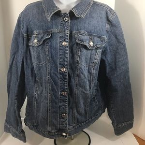 Style & Co plus size denim jean jacket 18W